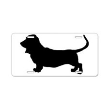 Basset Hound Silhouette Aluminum License Plate
