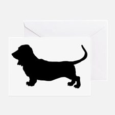 Basset Hound Silhouette Greeting Card
