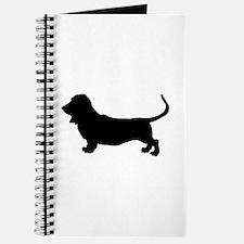 Basset Hound Silhouette Journal