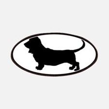 Basset Hound Silhouette Patches