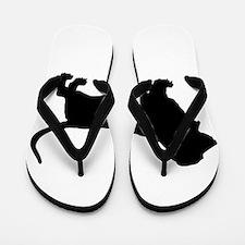 Basset Hound Silhouette Flip Flops