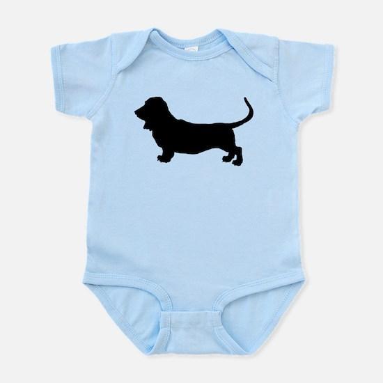 Basset Hound Silhouette Infant Bodysuit