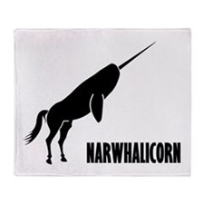 Narwhalicorn Narwhal Unicorn Throw Blanket
