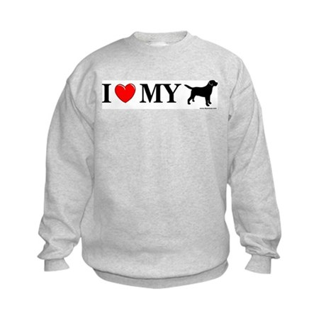 Love My Lab Silhouette Kids Sweatshirt