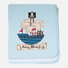 Ahoy Matey Pirate baby blanket