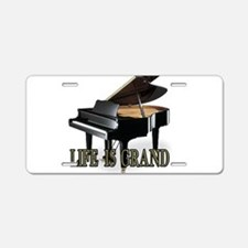 LIFE IS GRAND Aluminum License Plate
