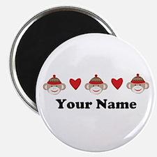 Personalized Sock Monkey Magnet