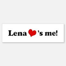 Lena loves me Bumper Car Car Sticker