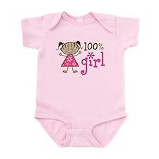 Stick Figure 100% Girl Infant Bodysuit