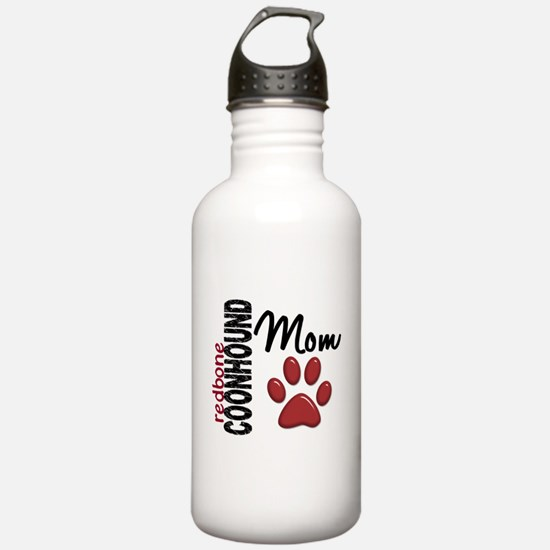 Redbone Coonhound Mom 2 Water Bottle