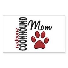 Redbone Coonhound Mom 2 Decal