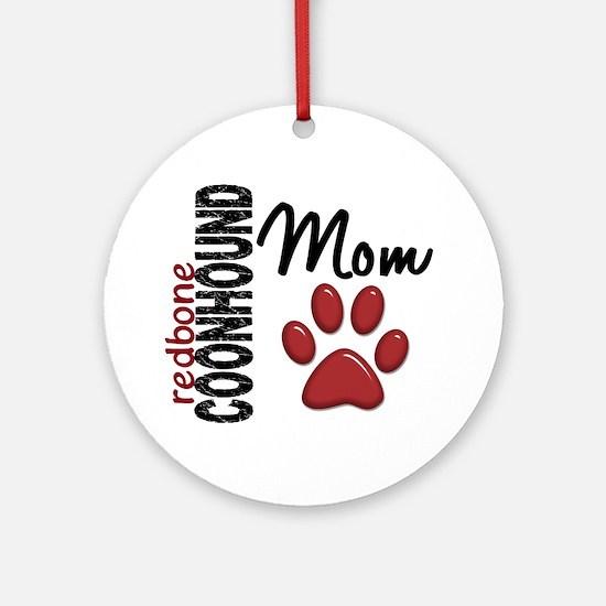 Redbone Coonhound Mom 2 Ornament (Round)