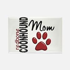Redbone Coonhound Mom 2 Rectangle Magnet (10 pack)