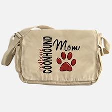 Redbone Coonhound Mom 2 Messenger Bag