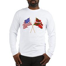 crossed flags Long Sleeve T-Shirt