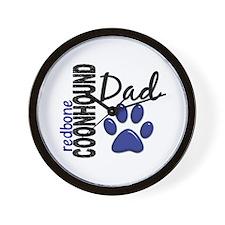 Redbone Coonhound Dad 2 Wall Clock