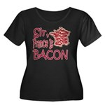 Sir France Is Bacon Women's Plus Size Scoop Neck D