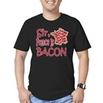 Sir France Is Bacon Men's Fitted T-Shirt (dark)
