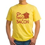 Sir France Is Bacon Yellow T-Shirt