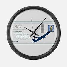 Boarding Pass Large Wall Clock