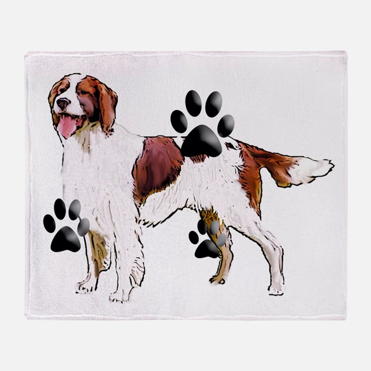 setter and Paws Throw Blanket