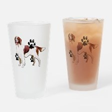 setter and Paws Drinking Glass