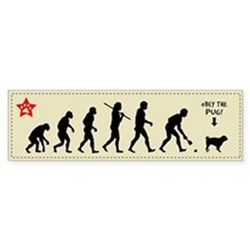 PUG Evolution - Dog Bumper Bumper Sticker