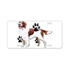 setter and Paws Aluminum License Plate