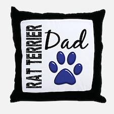 Rat Terrier Dad 2 Throw Pillow