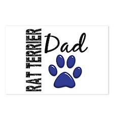 Rat Terrier Dad 2 Postcards (Package of 8)
