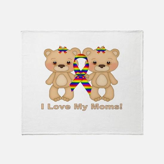 Love My Moms Throw Blanket