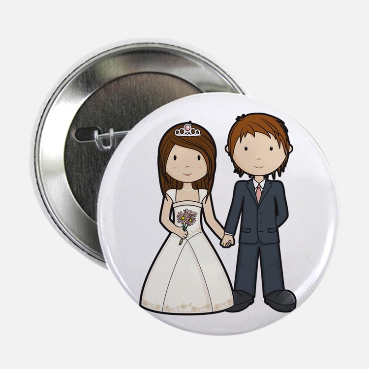 "Wedding Couple 2.25"" Button"
