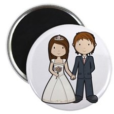 "Wedding Couple 2.25"" Magnet (10 pack)"