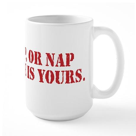 Tap Snap Or Nap Ultimate Fighting Gear Large Mug