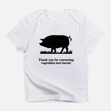 Pig Vegetables Into Bacon Infant T-Shirt