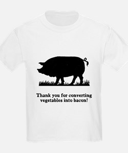 Pig Vegetables Into Bacon T-Shirt