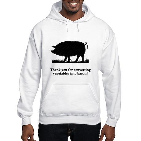 Pig Vegetables Into Bacon Hooded Sweatshirt