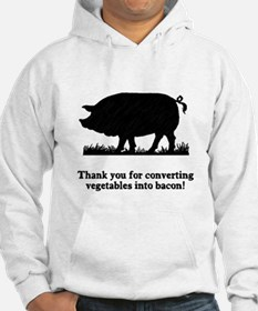 Pig Vegetables Into Bacon Jumper Hoody