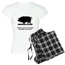 Pig Vegetables Into Bacon Pajamas