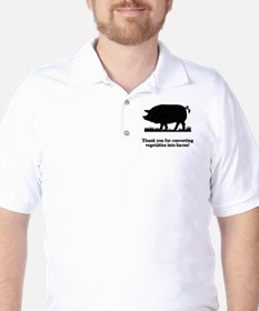 Pig Vegetables Into Bacon Golf Shirt