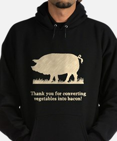 Pig Vegetables Into Bacon Hoodie