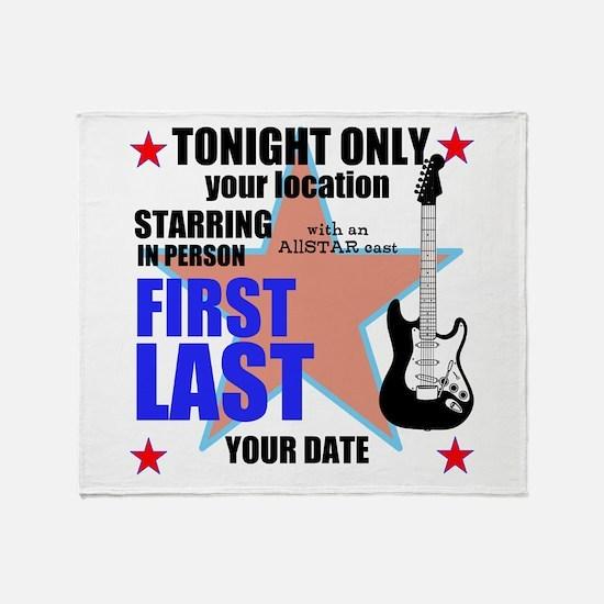 Music Poster Throw Blanket