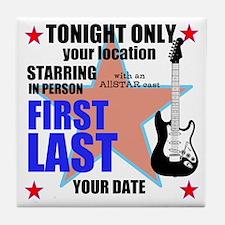 Music Poster Tile Coaster