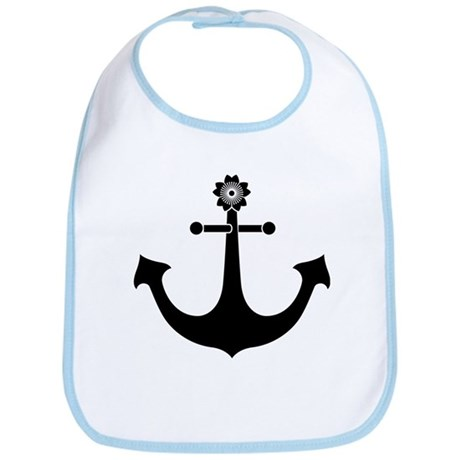 navy anchor Bib