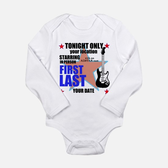 Music Poster Long Sleeve Infant Bodysuit