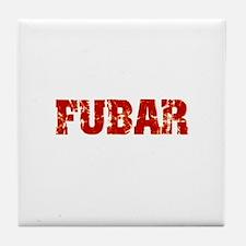 FUBAR Tile Coaster