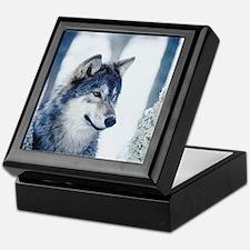 Gray Wolf Keepsake Box