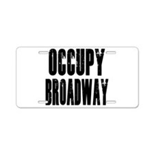 Occupy Broadway Aluminum License Plate