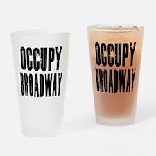 Occupy Broadway Drinking Glass
