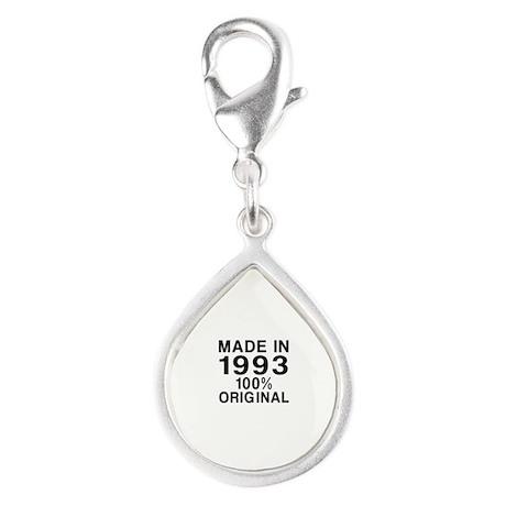 Made In 1993 Silver Teardrop Charm